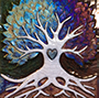 Tree of life with heart on trunk